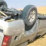 إنقلاب سيارة سعودي وزوجته في الأردن