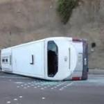 وفاة 5 وإصابة 19 في حادث انقلاب حافلة للنقل الجماعي
