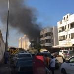 """إخلاء مدرسة تضررت من احتراق """"سوبر ماركت"""" في جدة"""