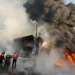 5 صواريخ تستهدف قاعدة تستضيف متعاقدين أميركيين في بغداد