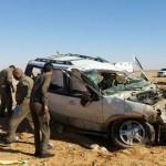 وفاة وإصابة 9 من عائلة واحدة إثر انقلاب سيارة على طريق القاعية الشحمة