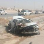 وفاة وإصابة 4 أشخاص من عائلة في حادث انقلاب غرب الرياض