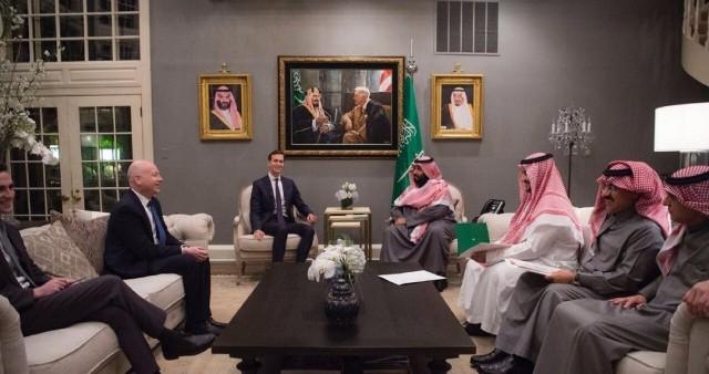 ولي العهد يجتمع بمبعوث الولايات المتحدة للشرق الأوسط