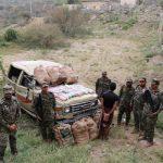 دوريات الأفواج الأمنية تحبط محاولات تهريب كمية من المخدرات والأسلحة وتقبض على المتورطين