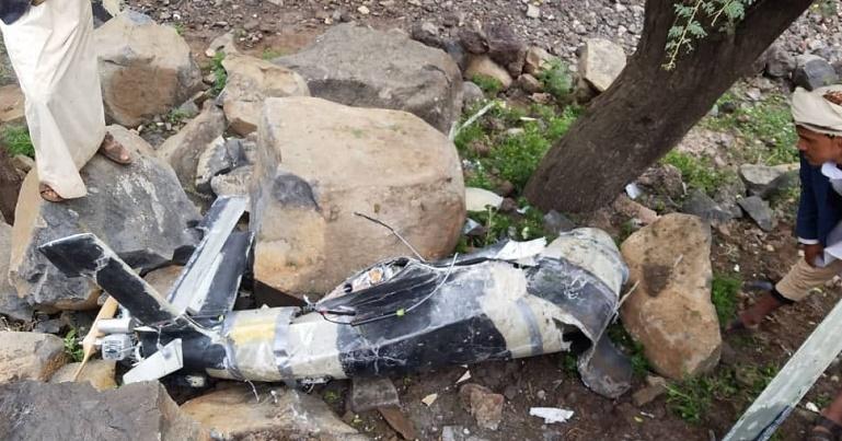 """الحوثييون يطلقون طائرة """"مفخخة"""" سقطت على مدنيين في عمران"""