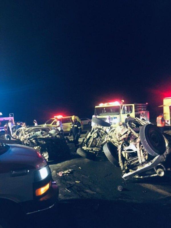 وفاة شخص وإصابة 7 آخرين في حادث تصادم مروع بالباحة