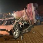 شاحنة تسحق مركبة وتتسبب في وفاة شاب على طريق «بيشة- خميس مشيط»