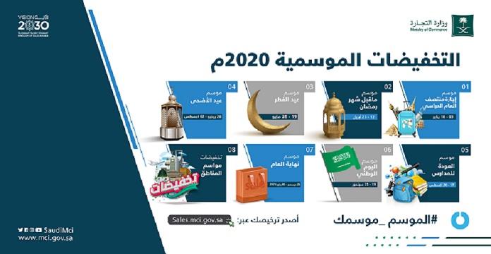 """""""التجارة"""" تطلق قائمة مواسم التخفيضات لعام 2020"""