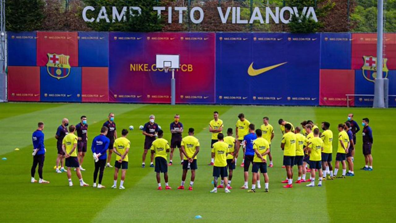 لاعبو برشلونة يتدربون معًا لأول مرة منذ توقف المنافسات بسبب كورونا