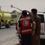 إصابة 24 شخصاً في حريق بأحد فنادق الرياض