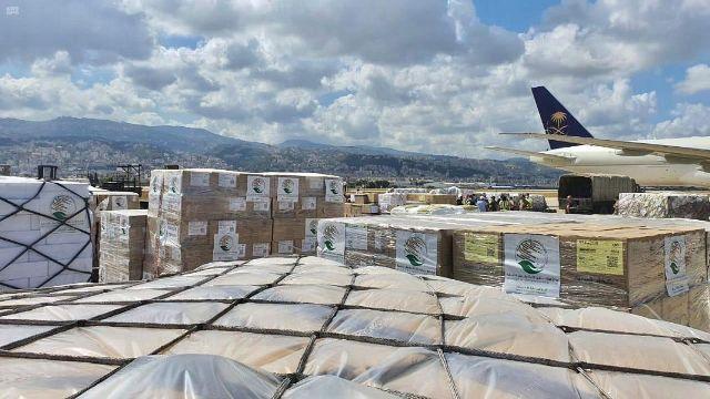 وصول الطائرة السعودية الإغاثية الرابعة إلى لبنان