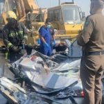 """وفاة وإصابة 7أشخاص إثر حادث انقلاب صهريج مياه بـ""""جدة"""""""