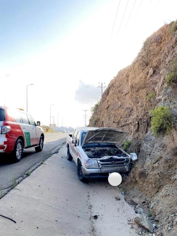 وفاة وإصابتان متوسطة وخطيرة في حادث مروري بالباحة