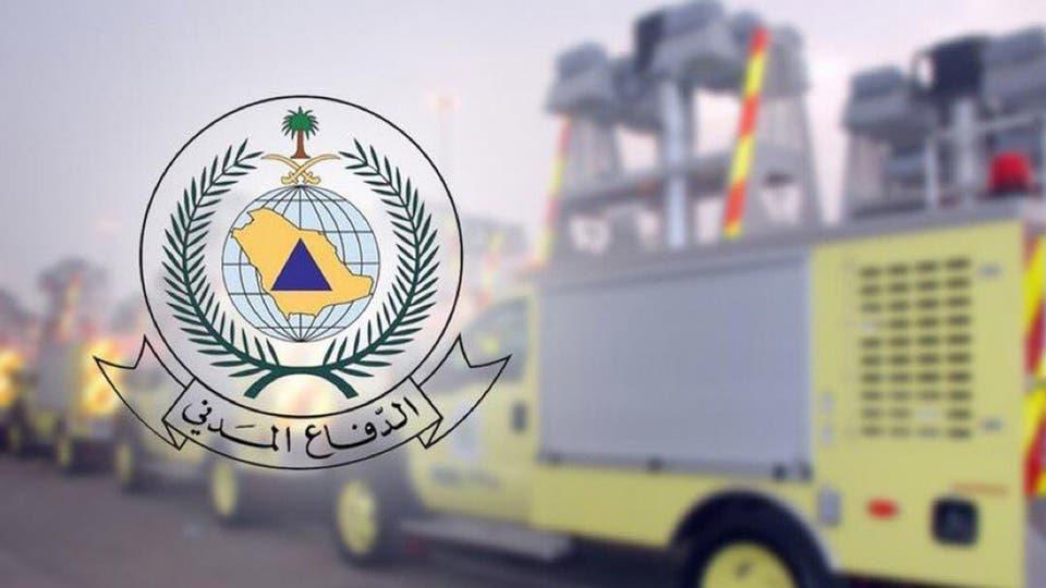 الدفاع المدني يباشر حادثة سقوط شظايا صاروخ باليستي أطلقته الميليشيا الحوثية الإرهابية
