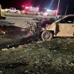 وفاة 3 أشخاص وإصابتين خطيرة في حادث انقلاب سيارة بنخال
